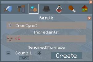 Iron Ingot - Creation Screen