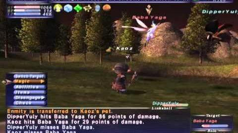 FFXI NM Saga 207 Baba Yaga vs BST80 Full Battle+ fixed