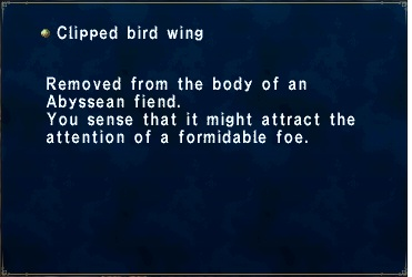 Clipped bird wing