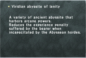 Viridian Abyssite of Lenity