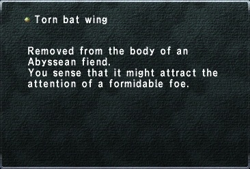 Torn bat wing