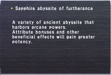 Sapphire abyssite of furtherance