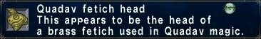 Fetich head