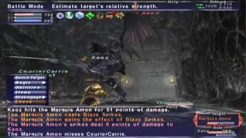 FFXI NM Saga 077 Marquis Amon vs BST solo Full Battle
