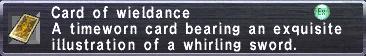 Card of Wieldance
