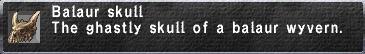 Balaur skull