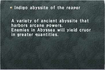 Indigo Abyssite of the Reaper