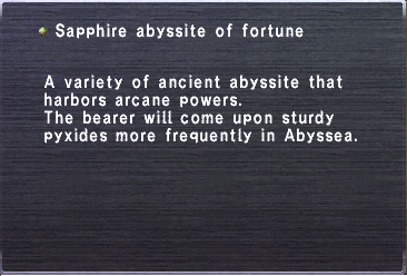 Sapphire abyssite of fortune