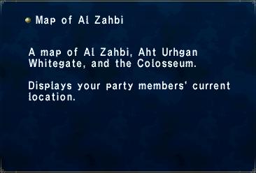 Key Item Map of Al Zahbi