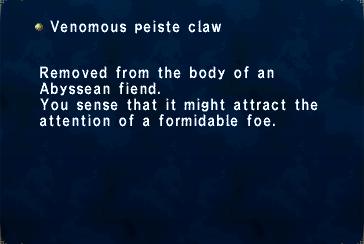 VenomousPeisteClaw