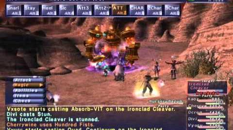 FFXI NM Saga 275 Ironclad Cleaver NM Full Battle