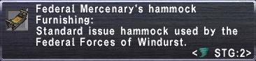 Federal Mercenarys Hammock