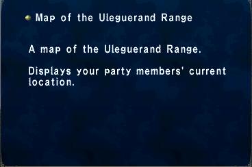 Key Item Map of the Uleguerand Range