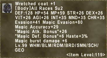 Wretched coat +1
