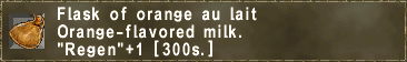 Flask of orange au lait