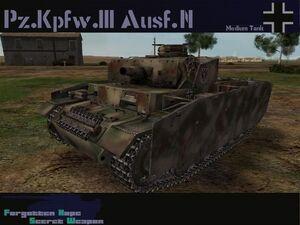 Pzkpfw III Ausf N
