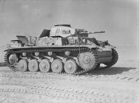 File:Captured Panzer II at El Alamein 1942.jpg