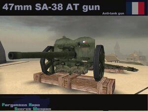 47mm SA-38 AT gun