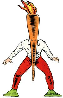 A flaming carrot