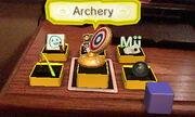 AR games menu