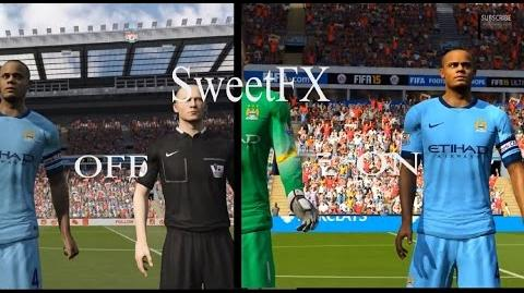 SweetFX enabled in - FIFA 15 - gameplay PC Win 8.1 Improved graphics mod