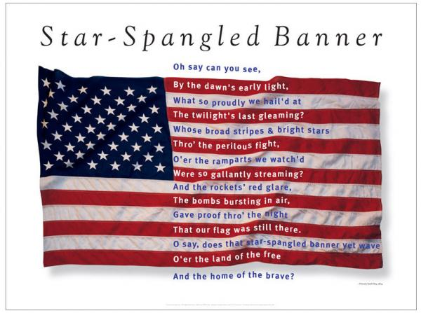 Image result for the star spangled banner became the national anthem in 1931 making it