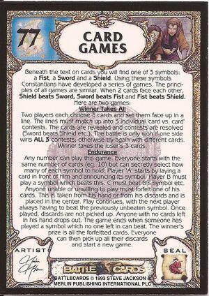 77 Card Games US back