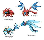 Carminymph Cyanymph Beast Family