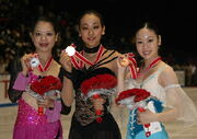 2008 NHK Trophy ladies podium