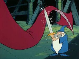Fuddy uses Excalibur