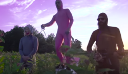 Pink Guy and Bodyguards