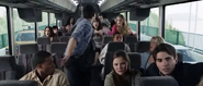 Sam and the others on the bus