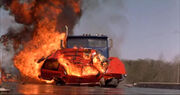 1996 Chevrolet Tahoe completely destroyed