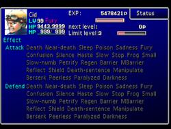 FFVII Status Screen 3