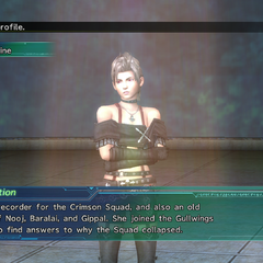 Paine's profile in Shinra's Dossiers.