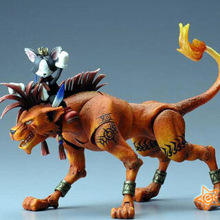 Play Arts figure alongside Red XIII made by Kotobukiya.