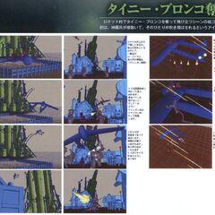 Storyboard of the take-off scene.