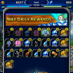 May 2016 Daily Rewards for global release.