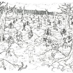 Concept art of the cemetery.