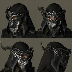 Masked hood.