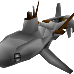 World Map model of gray submarine.
