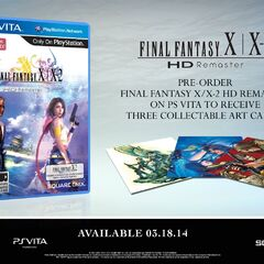 PS Vita North American with bonus collectable art cards.