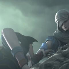 Kain saves Ceodore in the <i>Complete Collection</i> opening FMV.