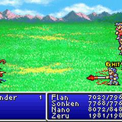 Flame Lance in <i>Final Fantasy II</i> (GBA).