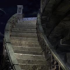 Stairway Garnet climbs when she hears the summoner's call.