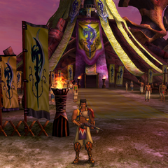 Maroda guarding the Youth League Headquarters in <i>Final Fantasy X-2</i>.