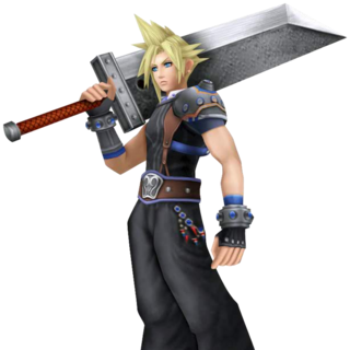 Yoshitaka Amano's Cloud's appearance render from <i>Dissidia 012 Final Fantasy</i>.