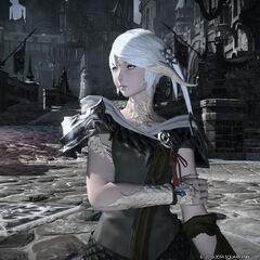 Female Au Ra Raen render.