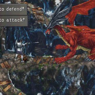 Laguna fighting a Ruby Dragon.