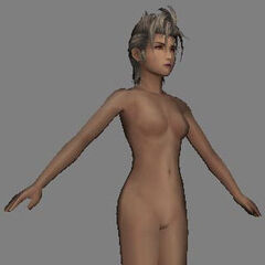 Nude model used during dressphere transformations.